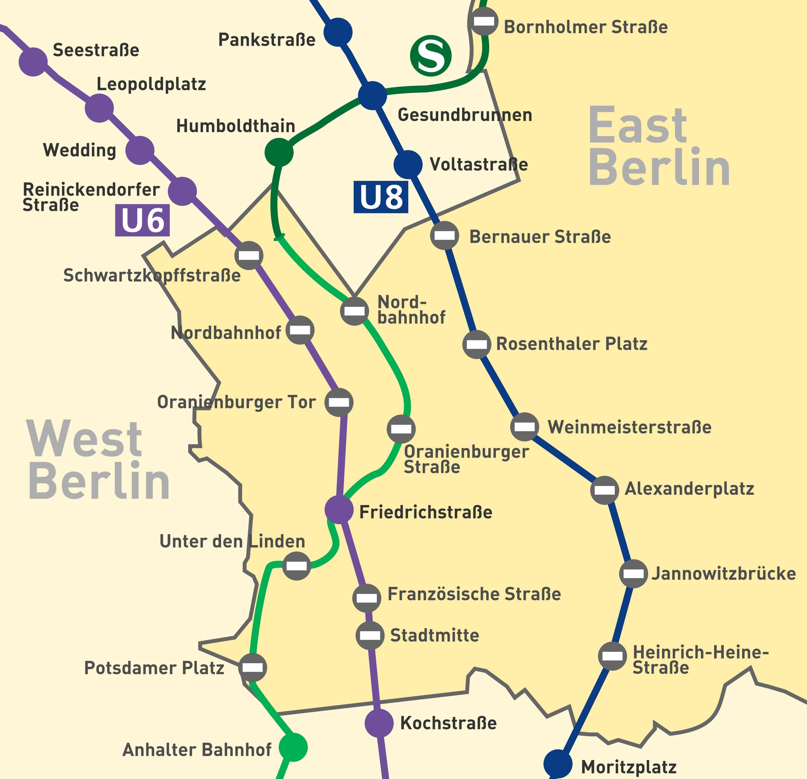 Y6 Berlin Mapa Metra U6 Berlin Niemcy