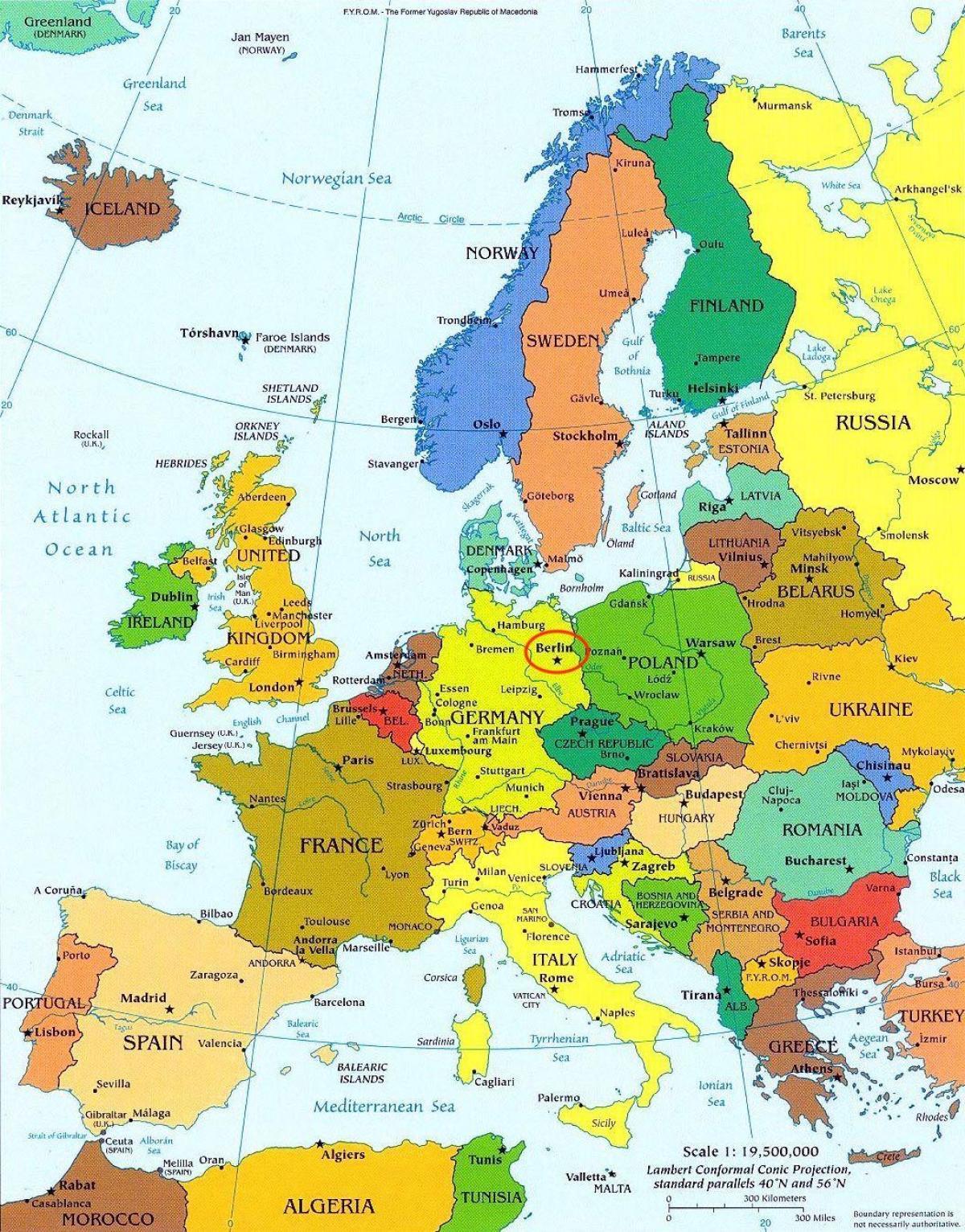 Berlin Mapa Europy Mapa Berlina Mapa Europy Niemcy