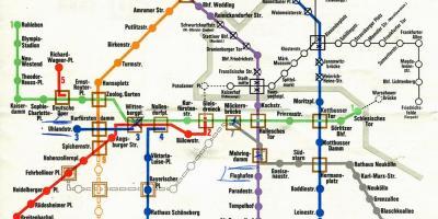 Mapa Berlin Karty Berlin Niemcy